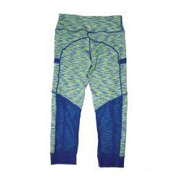 Space Dye Blue Green Athletic Leggings