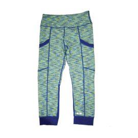 Space Dye Blue Green Athletic Leggings