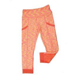Space Dye Orange Athletic Leggings