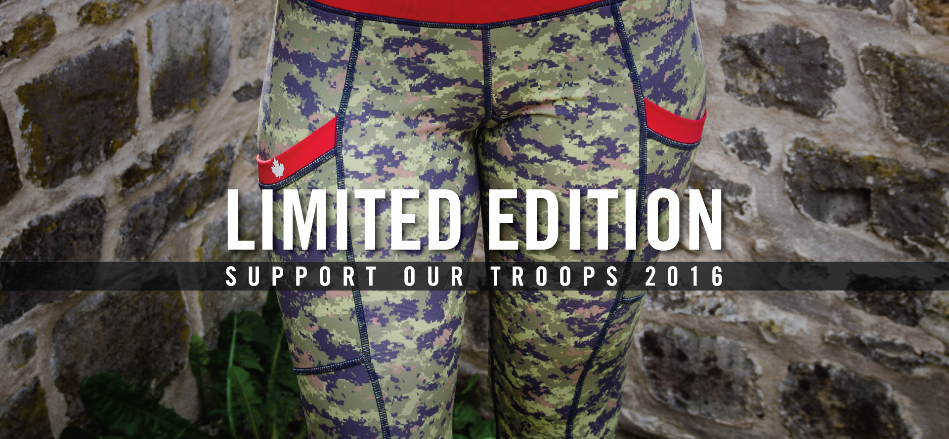 Support Our Troops Limited Edition Green Camo Capris