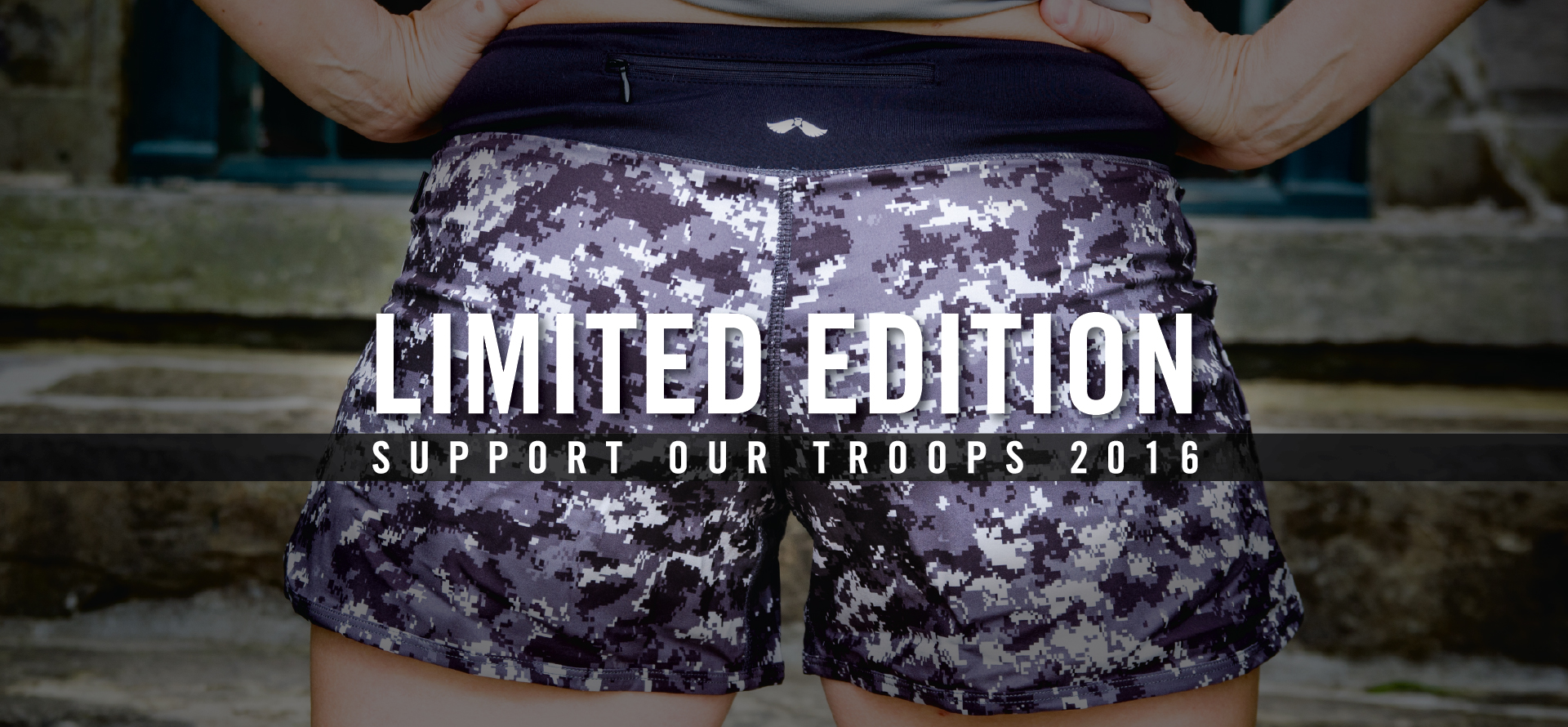 Support Our Troops Grey Camo Shorts